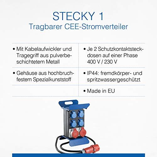 2 x Schuko Stromverteiler Baustromverteiler Stromverteilerkasten 2 x CEE 16A