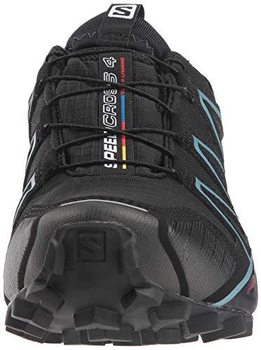 Salomon Damen Speedcross 4 GTX,Trailrunning Schuhe,Wasserdicht,Schwarz (BlackBlackMetallic Bubble Blue),Größe: 38 Vergleichen Sie die Preise bei
