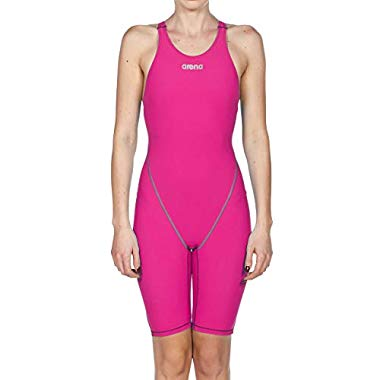 arena Damen Racing-Badeanzug Powerskin ST 2.0 One Piece Open Back,Damen,Women's Powerskin St 2.0 Le Open Back Racesuit,Fuchsia,24