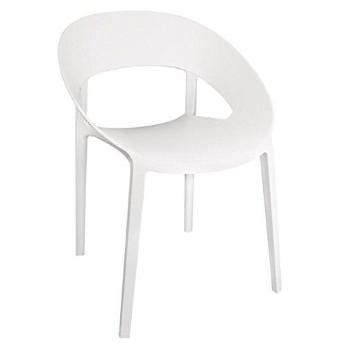 Bolero Schalenstuhl kunststoff weiß - 4
