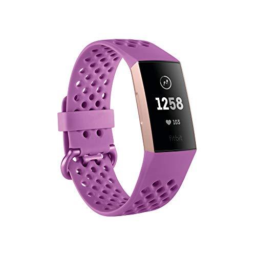 Fitbit Charge 3,Der innovative Gesundheits und Fitness Tracker,Flieder