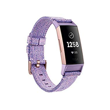 Fitbit Charge 3 Special Edition,Der innovative Gesundheits und Fitness Tracker,Rose-Gold/Lavender