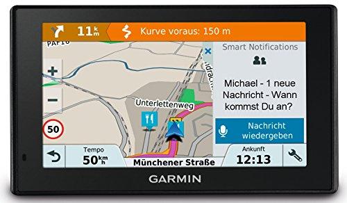 Garmin Drive Smart 51 LMT-D CE Navigationsgerät,Zentraleuropa Karte,lebenslang Kartenupdates und Verkehrsinfos,Smart Notifications,5 Zoll (Touchdisplay,010-01680-23)