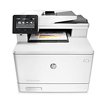 HP Color LaserJet Pro M477fdn Farblaser Multifunktionsdrucker (weiß) (Single, LAN und Duplex)