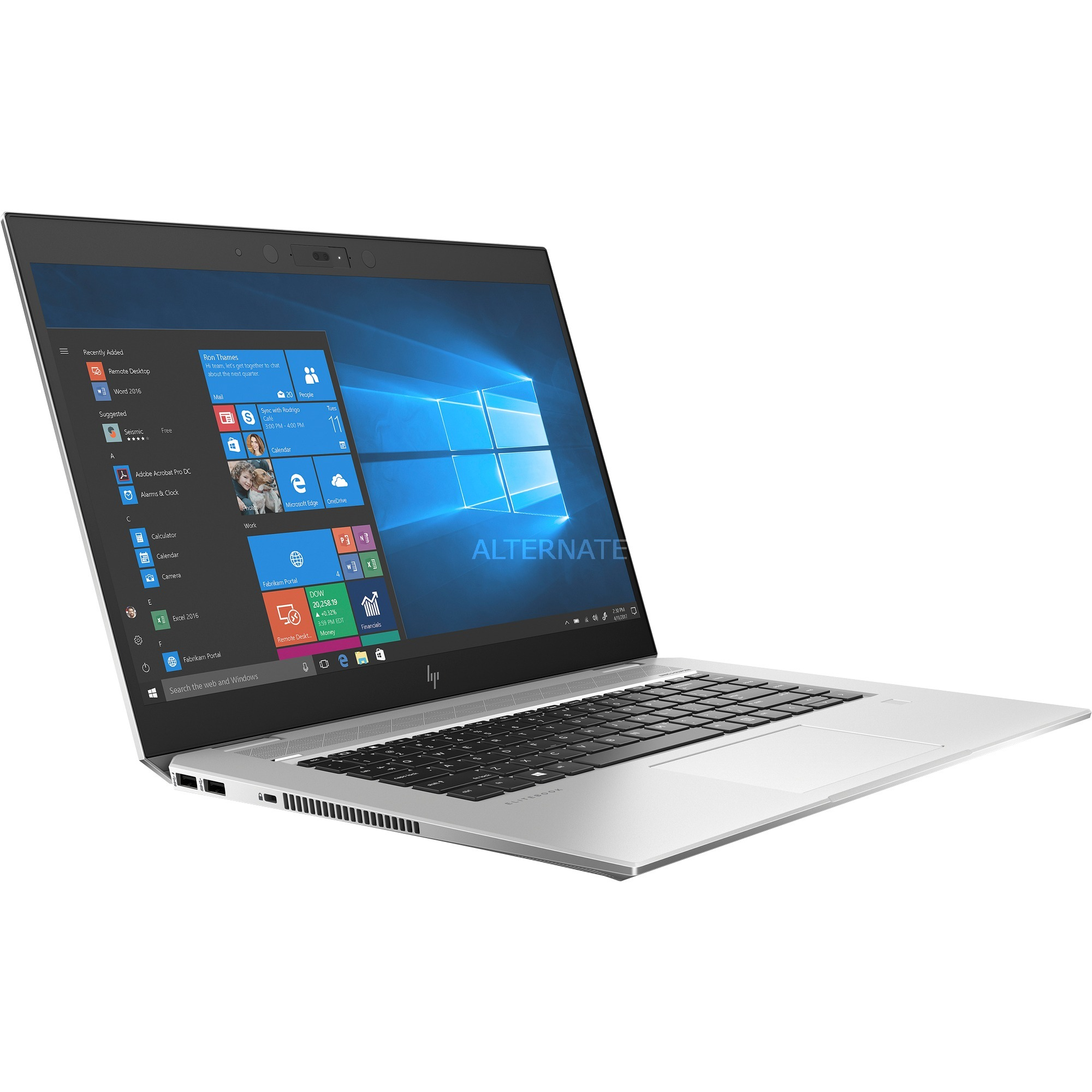 HP EliteBook 1050 G1 (5SQ99EA),Notebook + Intel Total War: Three Kingdoms Bundle (Code einlösbar bis 31.10.2019)-Spiel (silber)