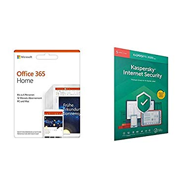 Microsoft Office 365 Home multilingual + Kaspersky Lab Internet Security 2019 Standard 5 Geräte