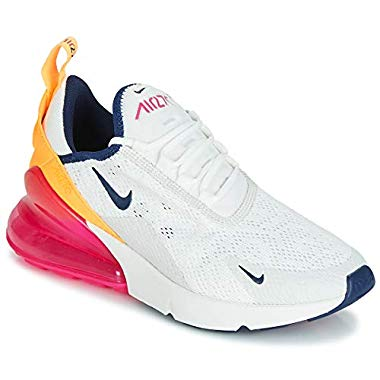 Nike AIR MAX 270 W Sneaker Damen Weiss/Orange/Rose - 42 - Sneaker Low