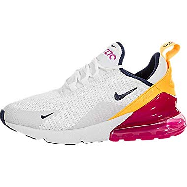 Nike AIR MAX 270 W Sneaker Damen Weiss/Orange/Rose - 40 - Sneaker Low