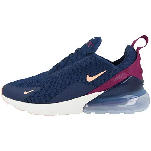 Nike Damen W Air Max 270 Leichtathletikschuhe,Mehrfarbig (Blue Void/Crimson Tint/True Berry 402),44.5 EU