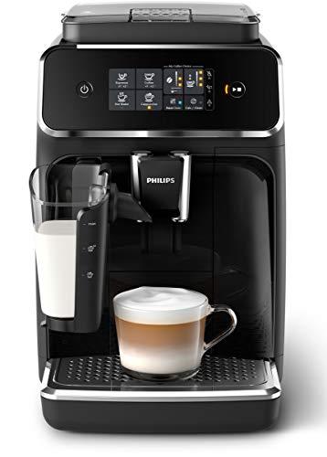 Philips 2200 Serie LatteGo EP2231/40 Kaffeevollautomat (Schwarz, Klavierlack-schwarz) (3 Kaffeespezialitäten)