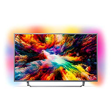 Philips 50PUS7303/12 126 cm (LED TV (Ambilight,4K Ultra HD, Triple Tuner, Smart TV)) (50 Zoll, Silber)