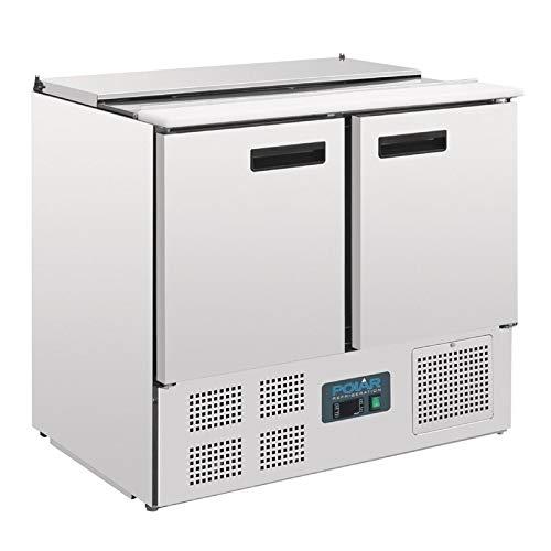 Polar gekühlte Saladette 240 Liter (Silber)