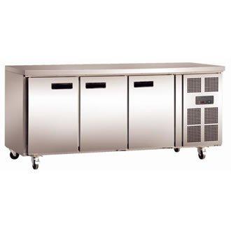 Polar Kühltisch 3-türig 339L (Silber)