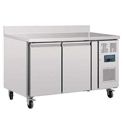 Polar Kühltisch mit Aufkantung 2-türig 282L (Silber)