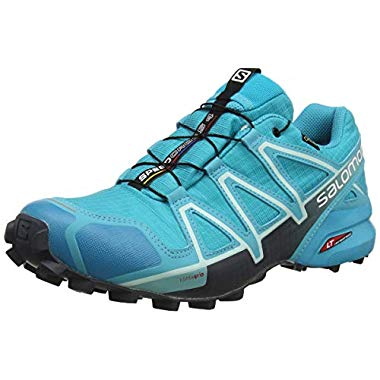 Salomon Damen Speedcross 4 GTX,Trailrunning-Schuhe,Wasserdicht,Blau (Bluebird/Icy Morning/Ebony),Größe 39 1/3