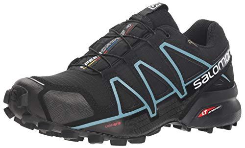Salomon Damen Speedcross 4 GTX,Trailrunning Schuhe,Wasserdicht,Schwarz (BlackBlackMetallic Bubble Blue),Größe: 40 23 Vergleichen Sie die Preise bei