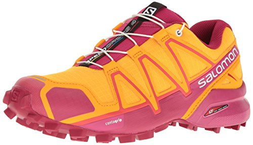 Salomon Damen Speedcross 4 GTX W Traillaufschuhe,Orange (Bright MarigoldSangriaRose Violet),36 EU Vergleichen Sie die Preise bei
