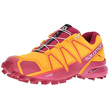 Salomon Damen Speedcross 4 GTX W Traillaufschuhe,Orange (Bright Marigold/Sangria/Rose Violet),36 EU