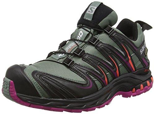 Salomon Damen Traillaufschuhe Traillaufschuhe,XA Pro 3D GTX,Gr. 39 1/3 (Herstellergröße: 6),Grau (Light Titan/BLACK/CORAL Punch)