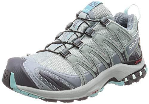 Salomon Damen Trailrunning-Schuhe,XA PRO 3D GTX W,Farbe: Türkis (Lead/Stormy Weather/Meadowbrook),Größe: 40 2/3