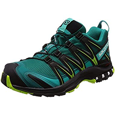 Salomon Damen XA Pro 3D GTX Trailrunning-Schuhe,Synthetik/Textil,türkis (deep lake/black/lime green),Gr. 38