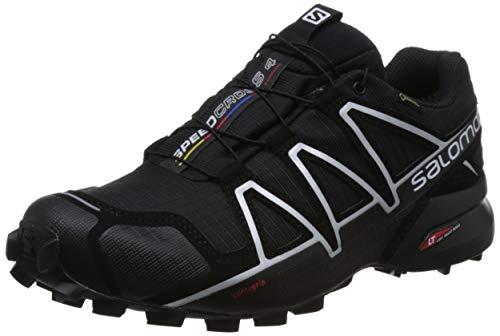 Salomon Herren Speedcross 4 GTX Trailrunning-Schuhe, Wasserdicht (42 EU, Schwarz, Silver Metallic)