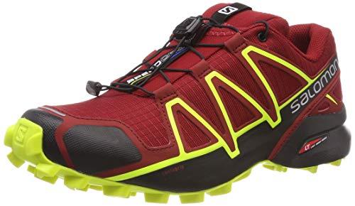 Salomon Herren Speedcross 4,Trailrunning-Schuhe, Rot,41 1/3 EU