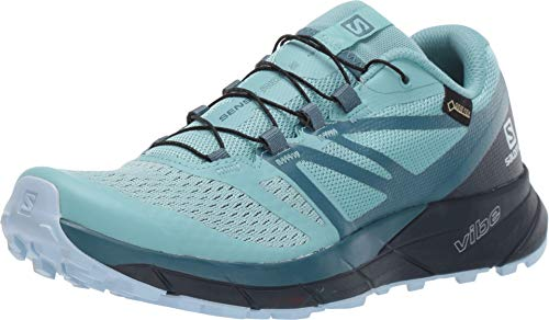Salomon Women's Outdoor Hiking Shoe (42 EU, Nile Blue/Navy Blazer/Mallard Blue)