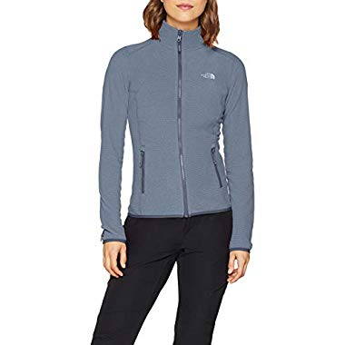 THE NORTH FACE Damen 100 Glacier Jacke,Grisaille Flint Stone Grey Stripe,XL