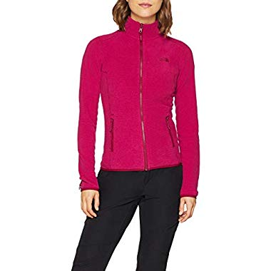 THE NORTH FACE Damen 100 Glacier Jacke,Rumba Red/Cerise Pink Stripe,M