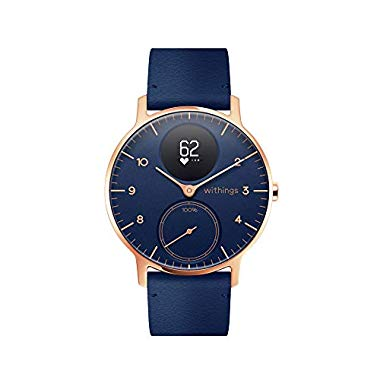 Withings Steel HR Hybrid Smartwatch (36mm, blau Lederband)