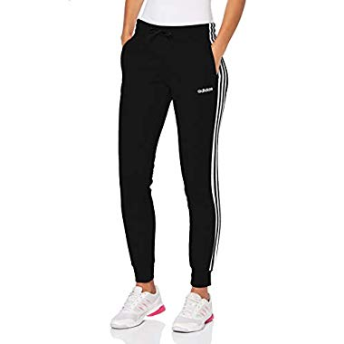 adidas Damen Essentials 3-Streifen Trainingshose, Black/White, L
