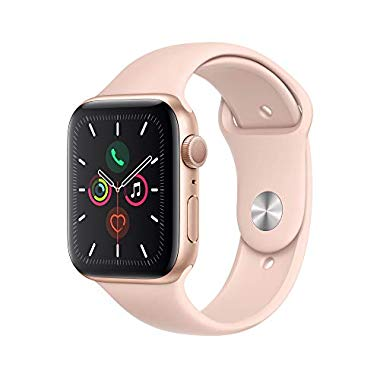 Apple Watch Series 5 (GPS,44 mm) Aluminiumgehäuse Gold - Sportarmband Sandrosa