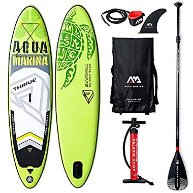 Aqua Marina Stand Up Aufblasbare Paddle Sup AQUAMARINA Thrive 2019 Full Pack 315x79x15cm (grün)