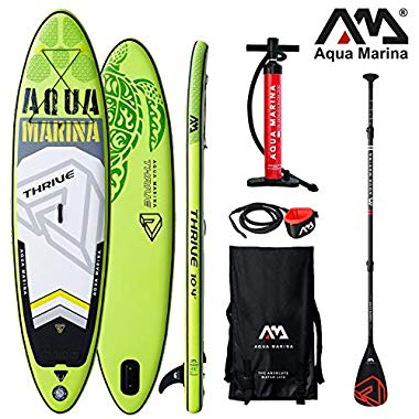 Aqua Marina Thrive 2019 SUP Board Inflatable Stand Up Paddle Surfboard Paddel (Board+Carbon Paddle+Leash)