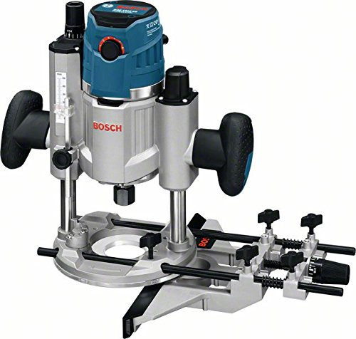 Bosch GOF 1600 CE Professional Oberfräse, 8/12 mm Spannzange, Absaugadapter, Parallelanschlag, Spannzangen, Zentrierstift, 1.600 W, L-Boxx