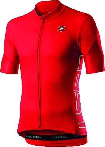 castelli Herren ENTRATA V Jersey Fahrradtrikot rot S