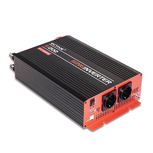 ECTIVE 2000W 12V auf 230V SI-Serie Reiner Sinus Wechselrichter in 7 Varianten: 300W - 3000W (2000 W)