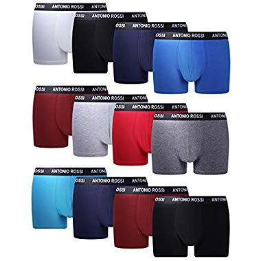 FM London Herren Fitted Boxer Hipster, Mehrfarbig Hell, Small (12er Pack)