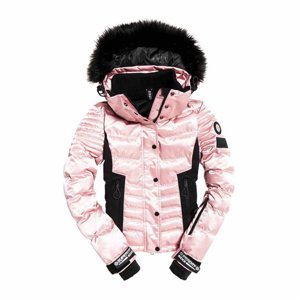 Jacken Superdry Luxe Snow Puffer (female,Ice Pink Metallic,L)