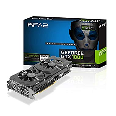 KFA2 GeForce GTX 1080 EXOC PCI-E Gaming-Grafikkarte, 8GB GDDR5, schwarz