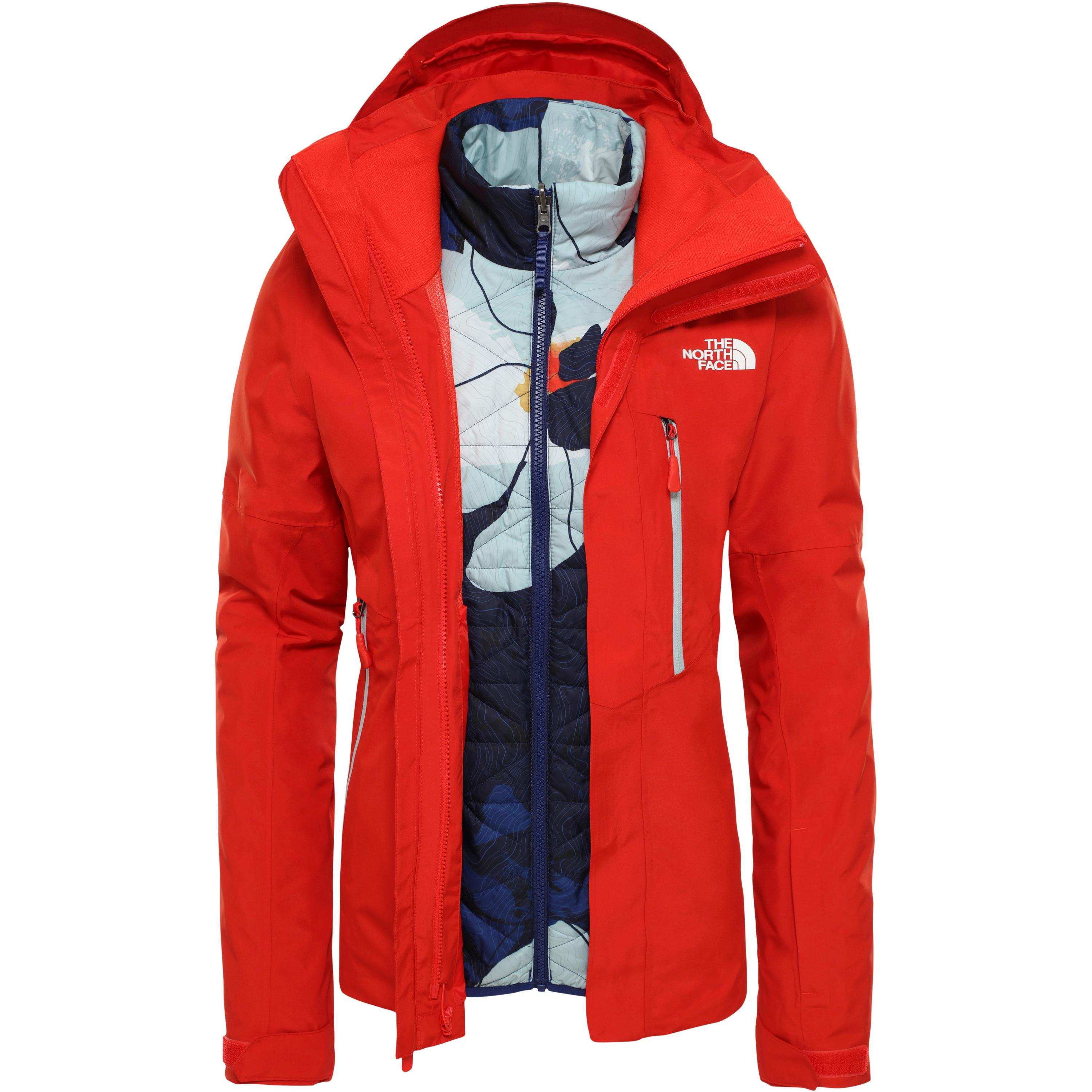 The North Face Garner Triclimate Skijacke Damen (rot, XL)