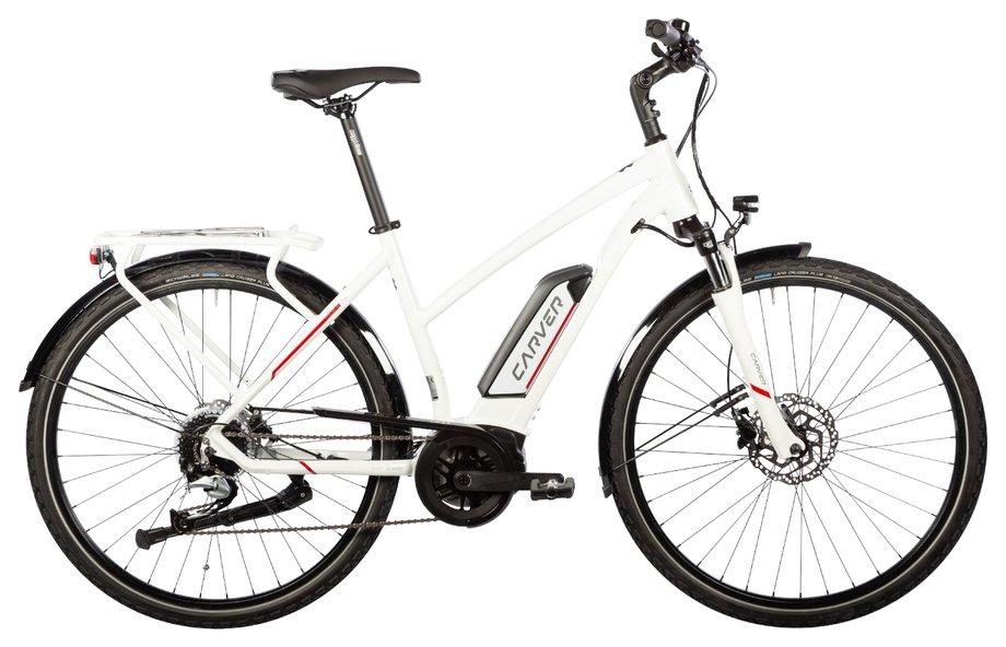 Carver Tour-E LTD Modell 2020 (400 Wh, Weiß, 55 CM, Damen)