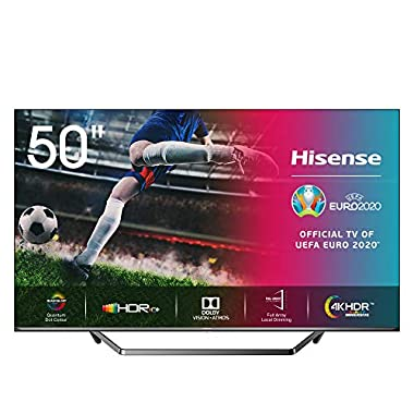 Hisense 50U7QF QLED 126cm (Fernseher (4K ULED HDR Smart TV, HDR 10+, Dolby Vision & Atmos, Full Array Local Dimming, WCG, USB-Recording, Ultra Slim Design, Mittelstandfuß, Alexa Built-in)) (Serie U7QF, 50 Zoll)