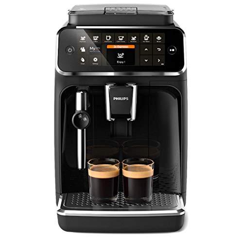 Philips 4300 Serie EP4321/50 Kaffeevollautomat, 5 Kaffeespezialitäten (Matt-Schwarz/Klavierlack-schwarze Arena)